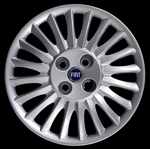 Generico Fiat Grande Punto Quattro (4) copricerchio borchia cod. 1215 Coppa Ruota Diametro 15' Logo Blu