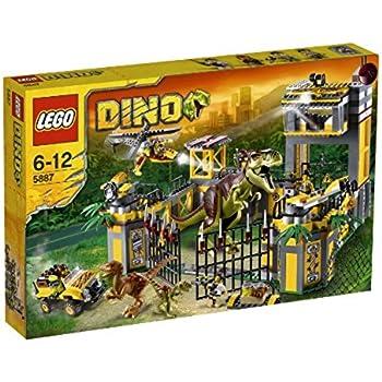 Lego dino 5887 jeu de construction le qg de d fense contre les dinosaures jeux - Jeux lego dino ...