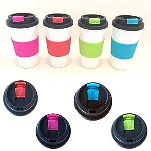 ls design coffee to go becher kaffe tee thermobecher silikonring doppelwandig schraubverschluss. Black Bedroom Furniture Sets. Home Design Ideas