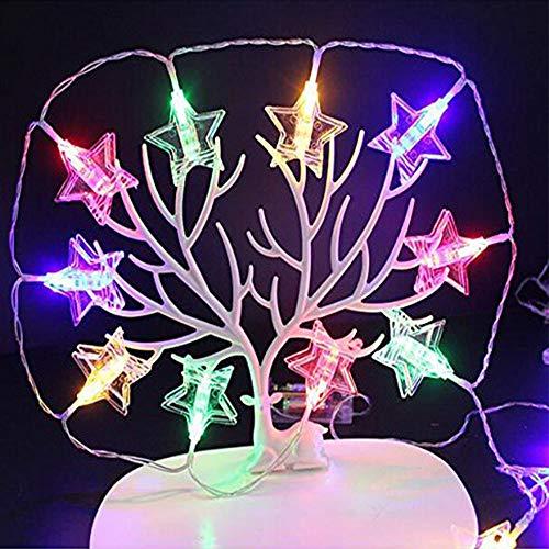 W&z clip light string led interni string lights decorazione stella lamp illuminations for christmas room compleanno matrimonio usb alimentato,colored,6m19.7ft