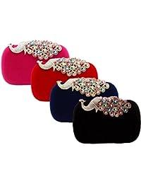 MagiDeal 4pcs Womens Gift Handbags Evening Bag Shoulder Bag Evening Party Chain Bag