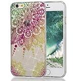 iphone 6/6S Hülle (4,7 Zoll), MKOAWA Kunst Gemaltes Kristall Bling Glänzend Funkeln Glitzer Durchsichtig Klar TPU Silikon Hülle Schutz Handy Tasche Etui Bumper Hülle für Apple iphone 6/6S (No.4)