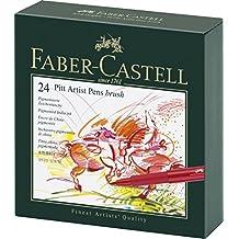 Faber-Castell 167147 - Pitt Artist Pen Geschenkbox, 24 Farben