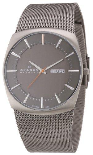 Skagen Herren-Armbanduhr XL Analog Quarz Edelstahl 696XLTTM