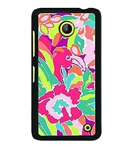 Fuson Designer Back Case Cover for Microsoft Lumia 630 (Flower Bloom Blossom Floret Floweret)
