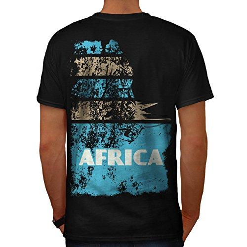 Dschungel Wüste Cool Afrika Land Leben Herren M T-shirt Zurück | Wellcoda (Süd-afrika T-shirt Flagge)