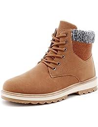 Shufang-shoes Pile Invernale da Uomo in Pura Lana Color Merino all Interno di  Stivaletti da Lavoro alla Moda con Tacco… 051f1941980