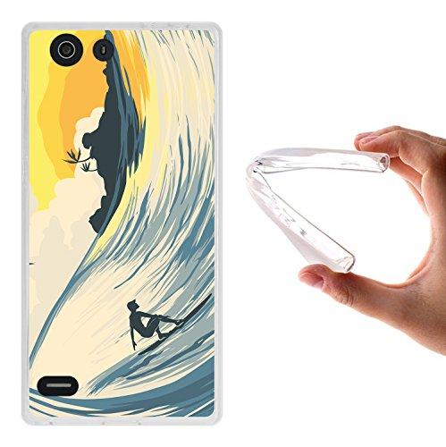 Elephone S2 Hülle, WoowCase Handyhülle Silikon für [ Elephone S2 ] Welle und Surfen Handytasche Handy Cover Case Schutzhülle Flexible TPU - Transparent