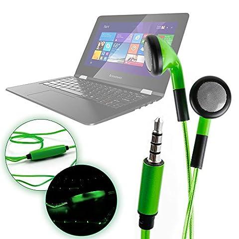 Ecouteurs verts LED luminescents pour PC Lenovo Essential B50-80-80LT003BSP et