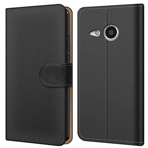 Conie Handytasche für HTC One Mini 2 Cover Schutzhülle im Bookstyle aufklappbare Hülle aus PU Leder Farbe: Schwarz