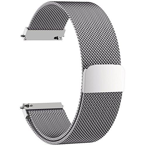 se Uhrenarmband, Fullmosa® Milanese Smart Watch Armand Ersatzband mit Edelstahl Magnet-Verschluss Watch Replacement für 18mm Silber (Timex-uhr Auf Verkauf)