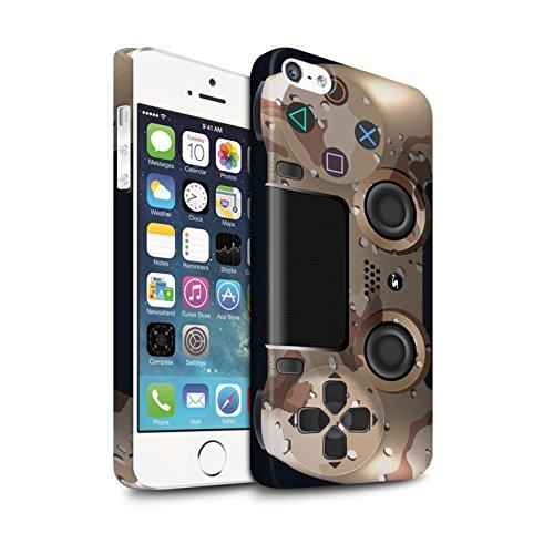 Clipser Matte Coque de Stuff4 / Coque pour Apple iPhone 5C / Camouflage Vert Design / Playstation PS4 Collection Camouflage Désert