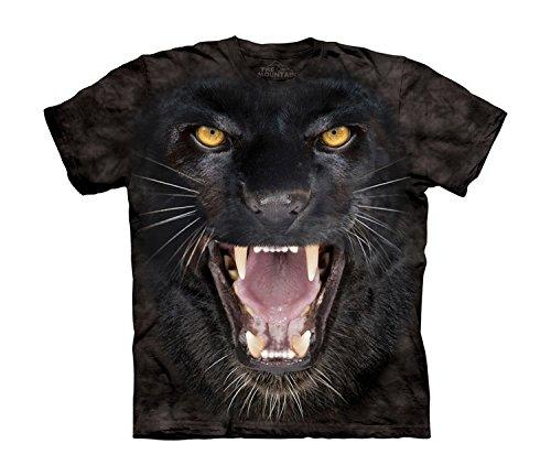n Aggressive Panther Kids Tee T-Shirt, Schwarz, Large (Panther-kids)