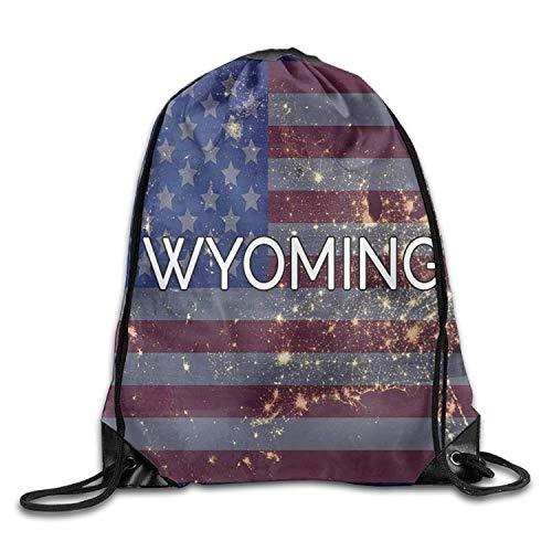 Sporttaschen Turnbeutel Wyoming State Flag Funny Gym Drawstring Bags Travel Backpack Tote School Rucksack Fashion