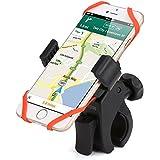 iKross Support vélo Bike Mount Support Téléphone de vélo W/Grip en caoutchouc pour Apple iOS iphone, Android, Smartphone, GPS, Lecteur MP3, rotation à 360° Cycle de Berceau pour moto–noir/rouge