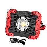WANGIRL LED Arbeitsleuchte Flutlicht Tragbare 10W COB 4400Mah USB Wiederaufladbare Camping Spotlight Mit Haken Lampe Eingebaute Batterie 17.5 * 12.8MM