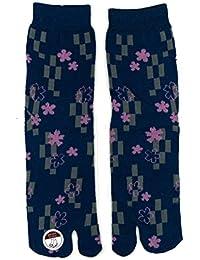 Chaussettes Tabi Japonaise Unisex : Set 4 Importation Direct du Japon