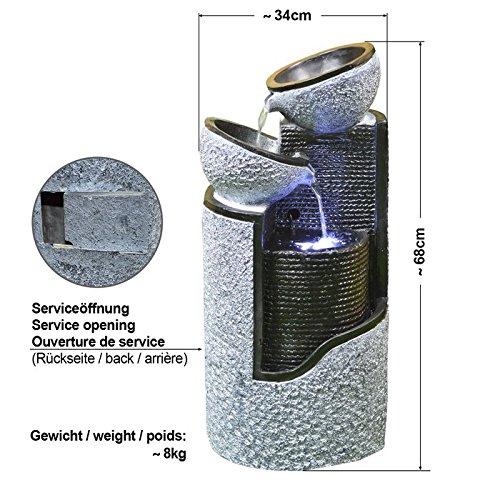 Solar Gartenbrunnen Granit-Säule