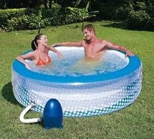piscine a bulles gonflable pompe a air electrique jacuzzi spa jardin exterieur ou interieur. Black Bedroom Furniture Sets. Home Design Ideas