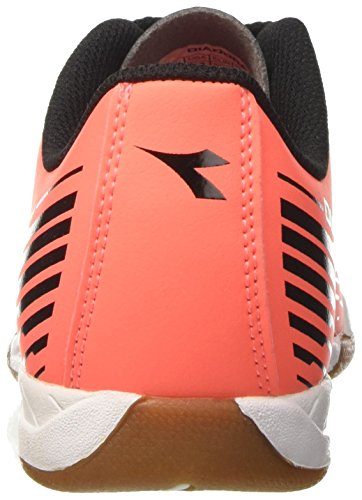 Diadora 7fifty Id, Chaussures de Soccer Intérieur Homme Rouge (Rosso Fluo/nero)