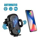 iado Wireless Car Ladegerät Mount, automatische Air Vent Handy Halter mit Infrarot-Sensor 10W Schnelle WLAN Ladegerät mit Standfunktion für Samsung Galaxy S9/S8/S7Edge/Note 8/iPhone X/8Plus und Qi fähigen Geräte