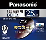 PANASONIC Blu-ray BD-R Recordable Disk | 25GB 4x Speed | 10 Pack Ink-jet Printable