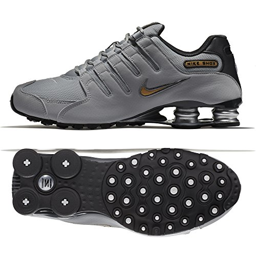 Nike Mens Shox NZ Wolf Grey Mesh Trainers 42.5 EU (Retro-lifestyle-schuhe)
