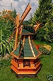 Windmühle,Windmühlen kugelgelagert 1,3m Bitum in grün