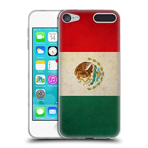 Head Case Designs Mexiko Mexikaner Vintage Fahnen Soft Gel Hülle für Apple iPod Touch 6G 6th Gen (X 6 Flag 4)