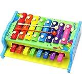 Aideal 2 in1 Xylophon und Klavier für Kinder Musikspielzeug Aktivität Geschenk für Kinder - ab 3 Jahren