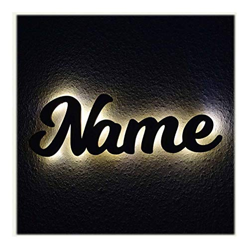 Firmenschild Werbeschild Namensschild Kinderlampe aus Wunsch Namen - LED Hintergrundbeleuchtung Schlummerlicht24