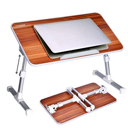 [2 Jahre Garantie] Avantree Verstellbarer Bett Tablett Laptop Betttisch, Tragbarer Laptoptisch Laptopständer, Klappbarer Sofa Frühstücks Tisch Notebooktisch Bücherständer - Minitable