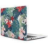 iDOO MacBook Schutzhülle / Hard Case Cover Laptop Hülle [Für MacBook Air 13 Zoll: A1369/A1466] - matt, tropische Palmen