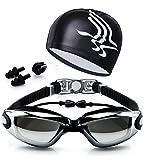 Gafas de natación Espejo Anti Niebla protección UV Gafas para Nadar Silicona para Adulto Hombres...