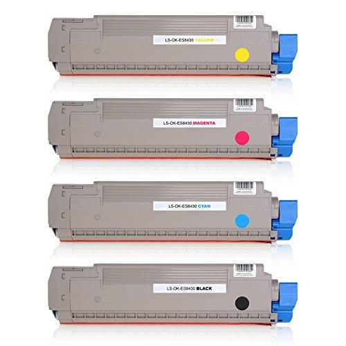 Preisvergleich Produktbild 4 Toner kompatibel zu OKI ES8430, ES8430DN, ES8460CDTN, ES8460DN - Schwarz 7.500 Seiten, Color je 7.000 Seiten