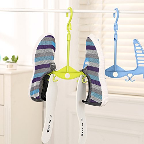 LEORX Percha para zapatos Zapatos gancho colgador estante de secado zapatos organizador percha colgador perchas de plástico