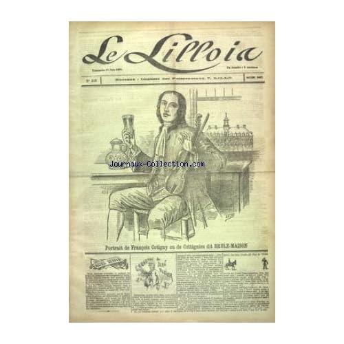 LILLOIS (LE) [No 342] du 21/06/1891 - PORTRAIT DE FRANCOIS COTIGNY OU DE COTTIGNIES DUT BRULE-MAISON