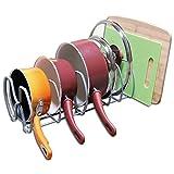 Taylor & Brown® Armario de cocina despensa almacenamiento organizador rack para pan pot tapa tabla de cortar, 6compartimentos