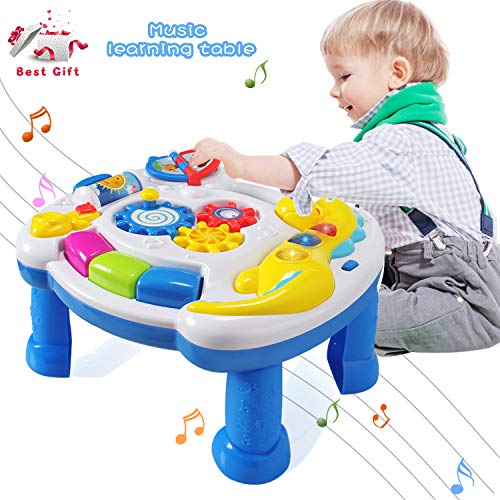 ACTRINIC Baby Toys Musical Learning Table 12 to 18 Months up-Early Education Music Activity Center Game Table Toddlers,Infant,Kids Toys 1 2 3 Years Old Boys & Girls- Lighting & Sound (New Gifts)