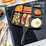 Appetitissime Fast & Easy Cooker Sartén Antiadherente 5 en 1, Aluminio, Negro/Rojo, 35 cm