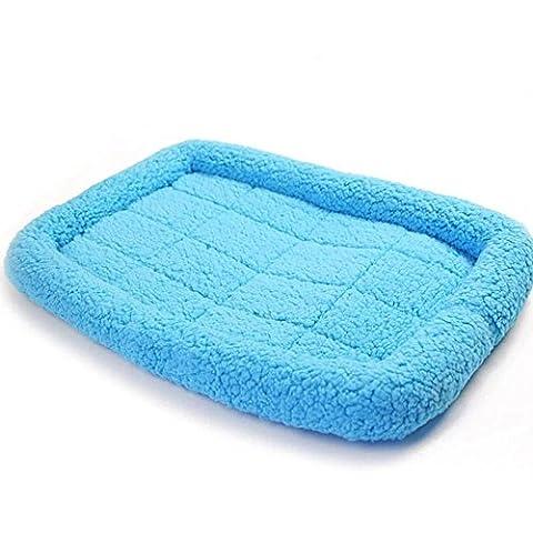 Tapis de litière pour animaux de compagnie sans goût propre à chaud les velours / du Cachemire en poudre / bleu / Brown XS43 * 28CM / s57 * 39cm / m73 * 46cm / l 87 * 50 cm / XL102 * 67cm JFDY , days blue , s- small (long 57cm