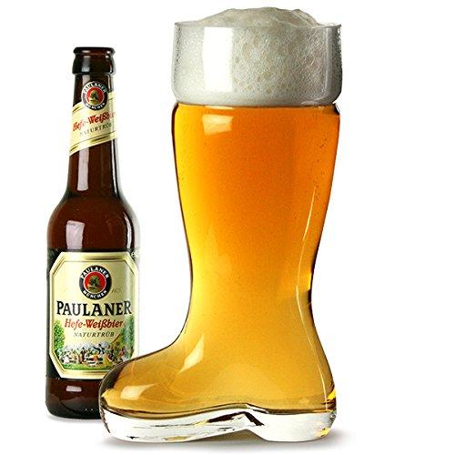 Glas Bier-Boot 2 Pint - 24.5cm - 1 Liter - Bierstiefel - Bier Glas