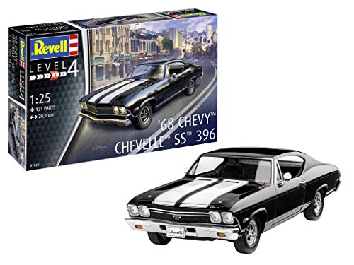 Revell 07662 7662 1:25 1968 Chevy ChevellePLastic Model Kit German Submarine Typ IIB (1943), Mehrfarbig, 1/25