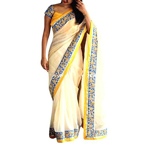 Zareen Fashion Women's CHANDERI SILK Multi-Colour Saree ( ZNX011 )