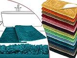 die extra Streicheleinheit für Ihre Füße in Markenqualität - Mikrofaser Badteppich - erhältlich in 13 modernen Farben und 6 verschiedenen Größen -, petrol, 50 x 45 cm ohne Ausschnitt