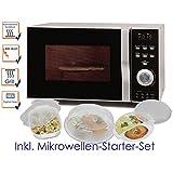 Micro-ondes combiné avec grill et Air Chaud 23L avec 800W/1200W, avec 5pièces Kit de démarrage