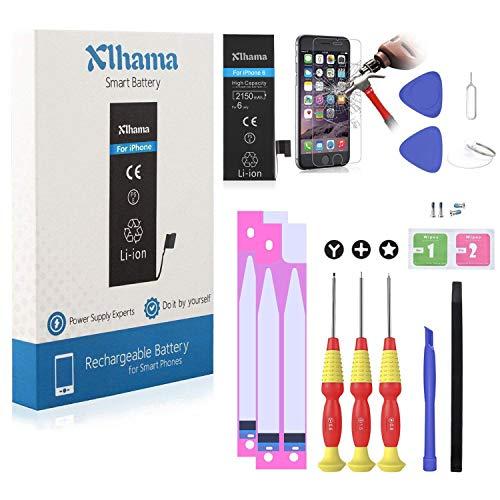 Xlhama Batteria Alta Capacita PER iPhone 6 2150 Mah CON KIT SMONTAGGIO Strumento Istruzione data compresso Adesivi biadesivo