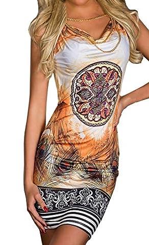 Weiblich Reizvolles Abstraktes Muster Drucken ärmellos Sommerkleid Blusenkleider Kurzer Rock