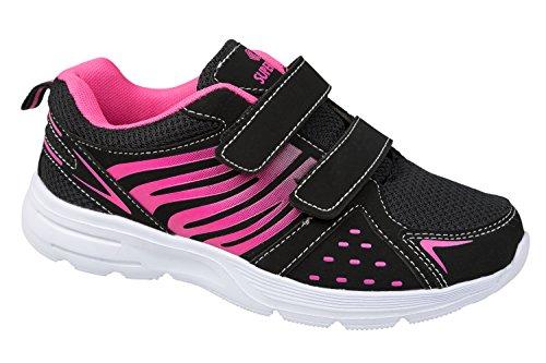 GIBRA® Damen Sportschuhe mit Klettverschluss, schwarz/pink, Gr. 36-41 Schwarz/Pink