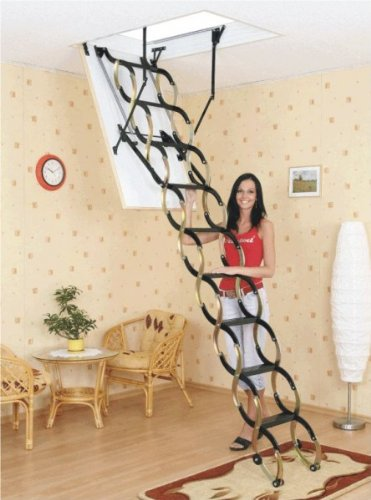 Oman Bodentreppe Scherentreppe THERMO 60 x 90 aus Holz